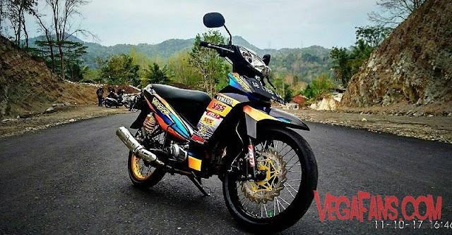 Vega R New Hitam Modif Road Race Ban Besar