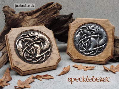 Specklebeast AngloSaxon Celtic Art Wall Plaque