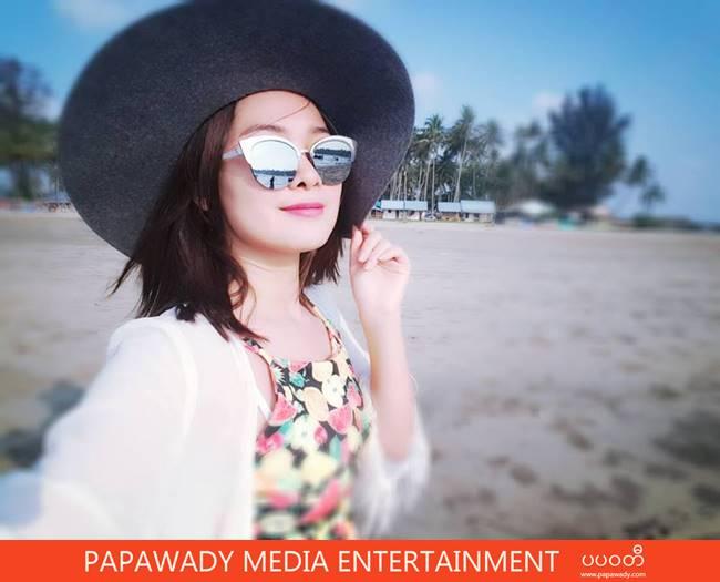 Moe Yu San Happy Vacation At Chaung Tha Beach Fashion Photos