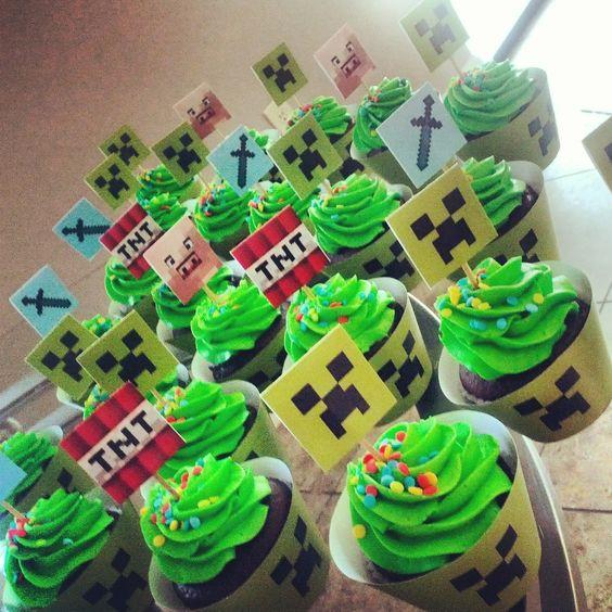 Muyameno Com Cupcakes Minecraft 1
