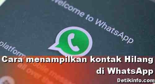 Cara memunculkan Kontak WhatsApp yang tidak terdeteksi