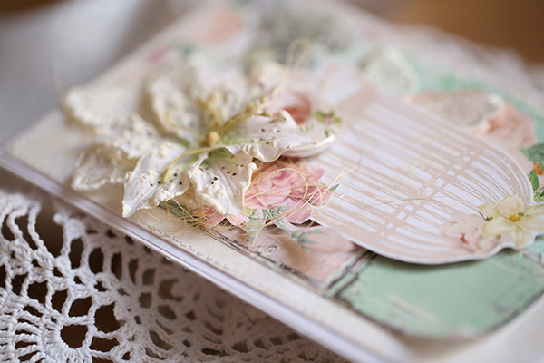Shabby chic card by Evgenia Petzer using Madeleine collection by Bo Bunny