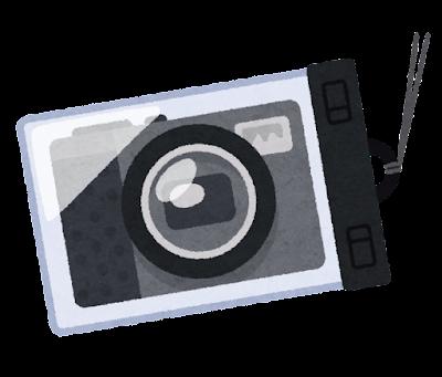 カメラの防水ケースのイラスト