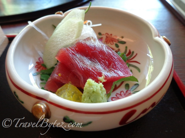 Fresh Tuna Sashimi slices