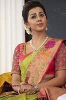 Actress Nikki Galrani Latest Pos in Saree Neruppu Da Movie Audio Launch  0013.jpg