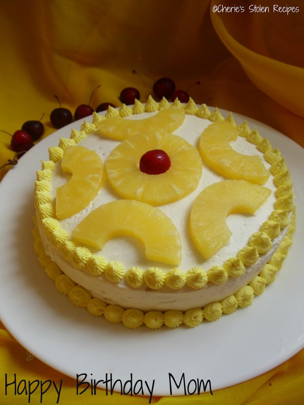 Cherie S Stolen Recipes Pineapple Cream Gateau Happy
