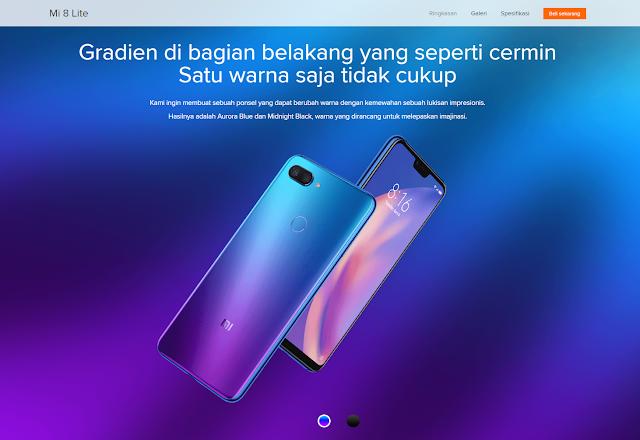 Xiaomi Mi 8 Lite (www.mi.co.id)