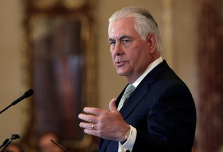 State Department says Secretary Tillerson is 'taking a little time off' amid tensions in the White House