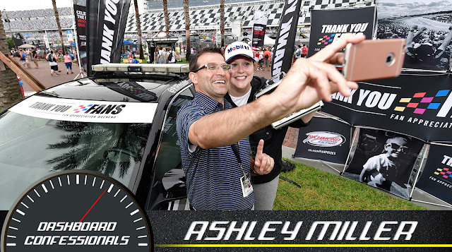 Ashley Miller won a fly away trip to the Federated Auto Parts 400 thanks to RIR and Sprint