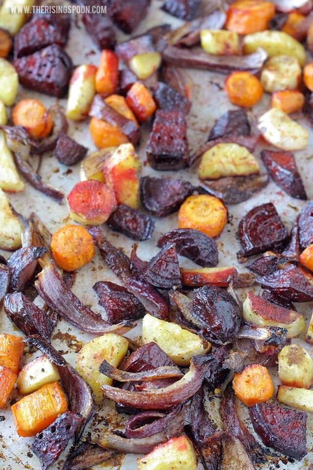 Thanksgiving Side Dish Recipe: Balsamic Oven-Roasted Root Vegetables