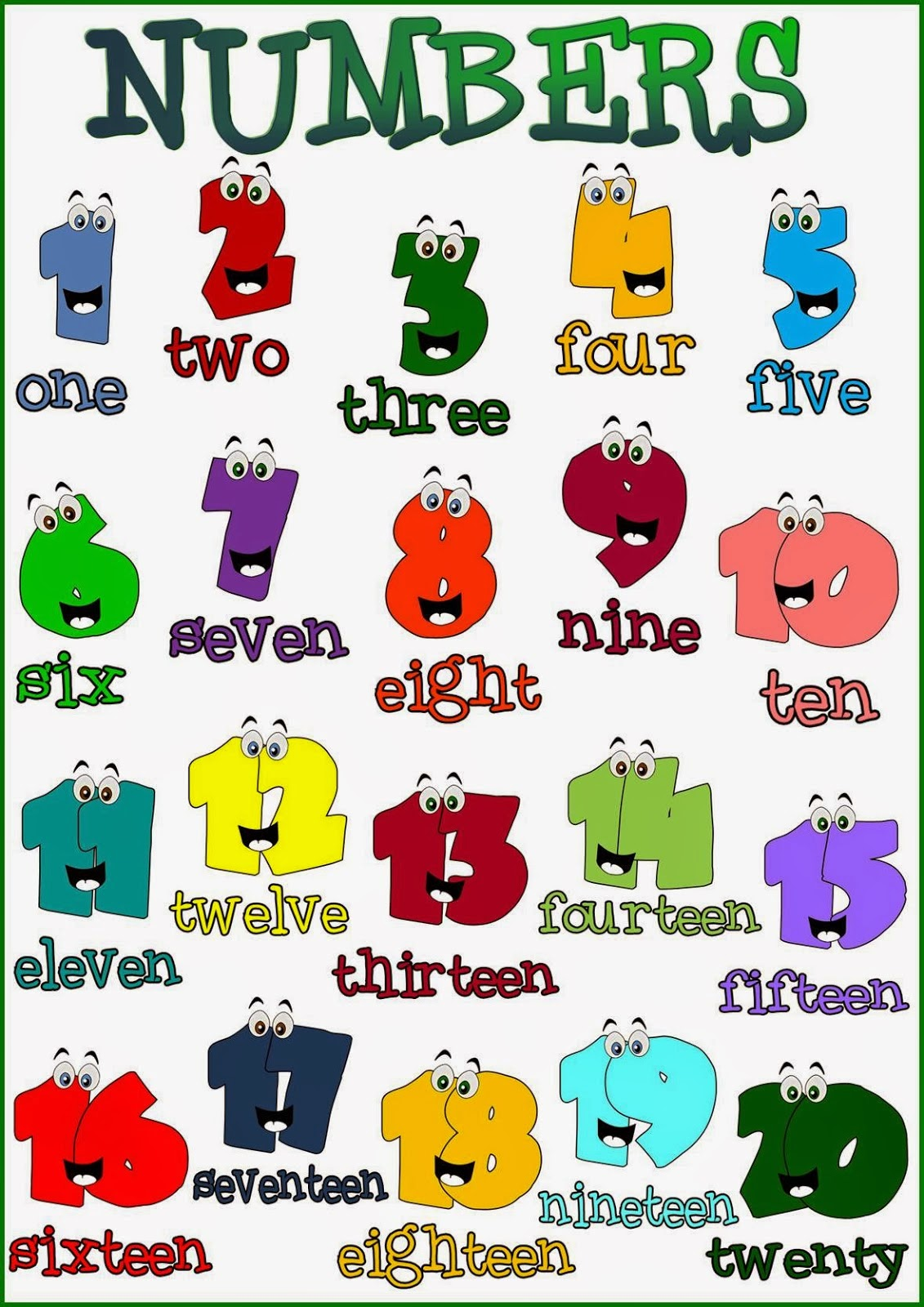 Carmelitas English Numbers From 1 To 20