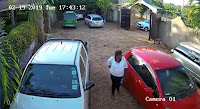 6 - These 4 grown up idiots were caught on CCTV breaking into a car at a hotel in Murang'a, what was in that bag they took? (PICs & VIDEO)