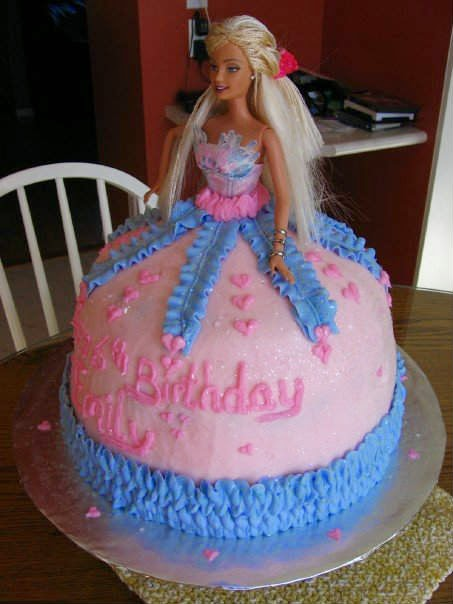 Brilliant 6 Cute Barbie Girl Birthday Cake Designs Creative Things Blog Funny Birthday Cards Online Overcheapnameinfo