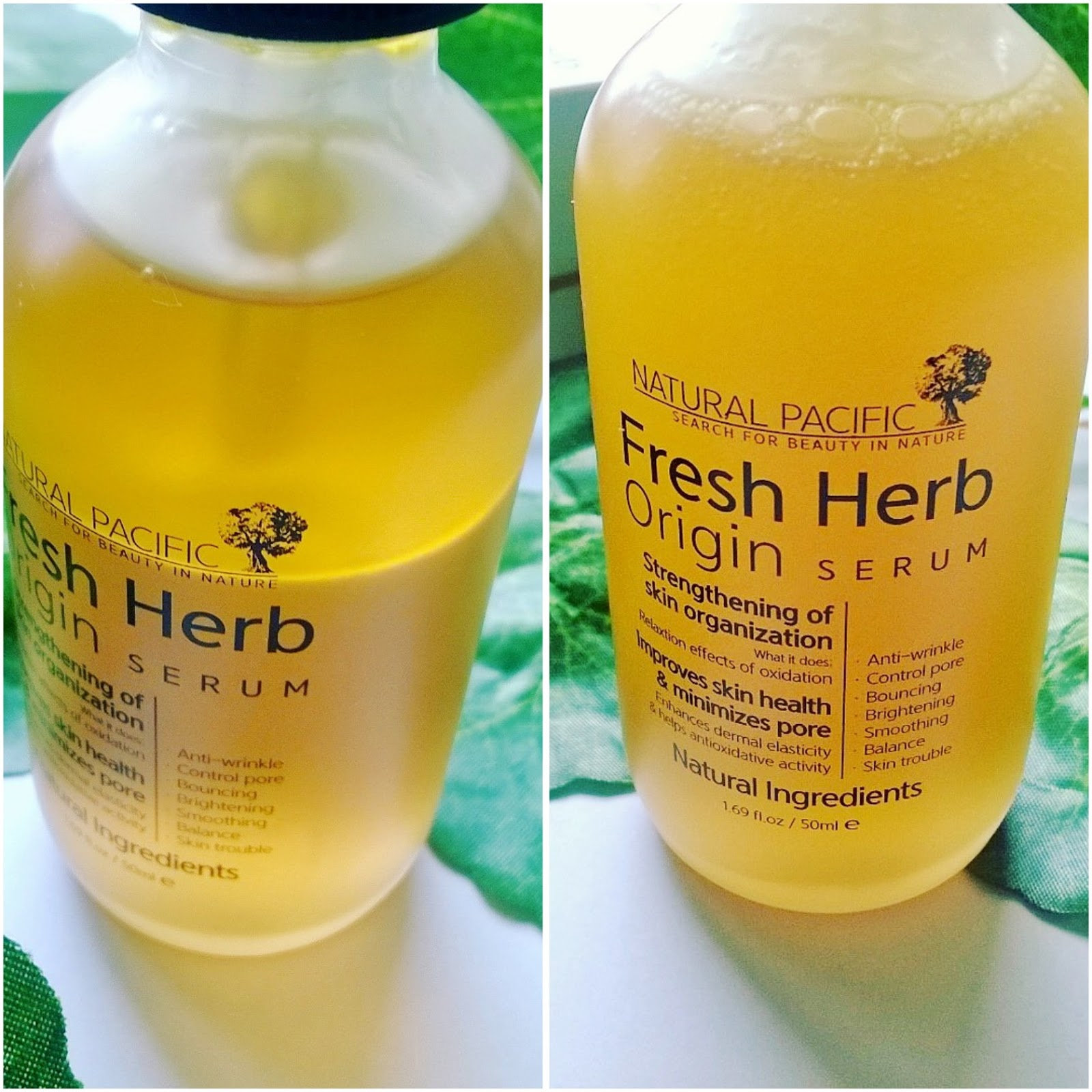 Review] Natural Pacific Fresh Herb Origin Serum - Beauty & Dewdrop Blog