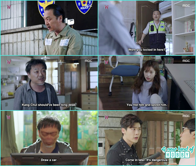killer make yeon jo hostage and commanding writer sung moo to draw thing for them - W - Episode 13 Review - The Hypothesis & Unexpected Twist