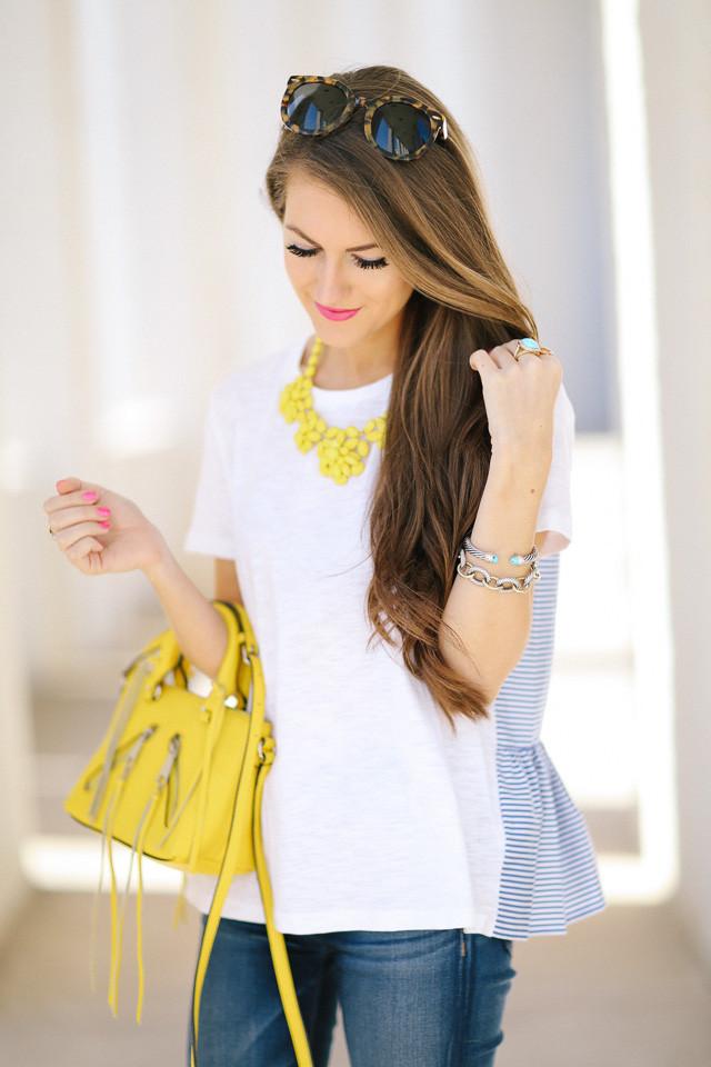 Love the pops of yellow!