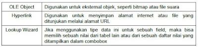 Jenis-jenis Type Data dalam DBMS