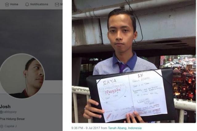 Ini Dia Pencari Kerja yang Viral di Medsos Sebab Promosi Diri di JPO Grogol