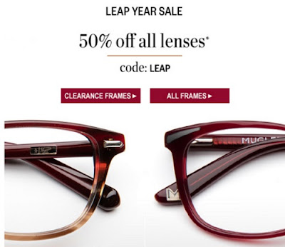 Clearly 50% Off Lenses Leap Year Sale