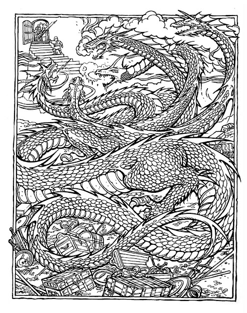Dragon Mandala Coloring Pages