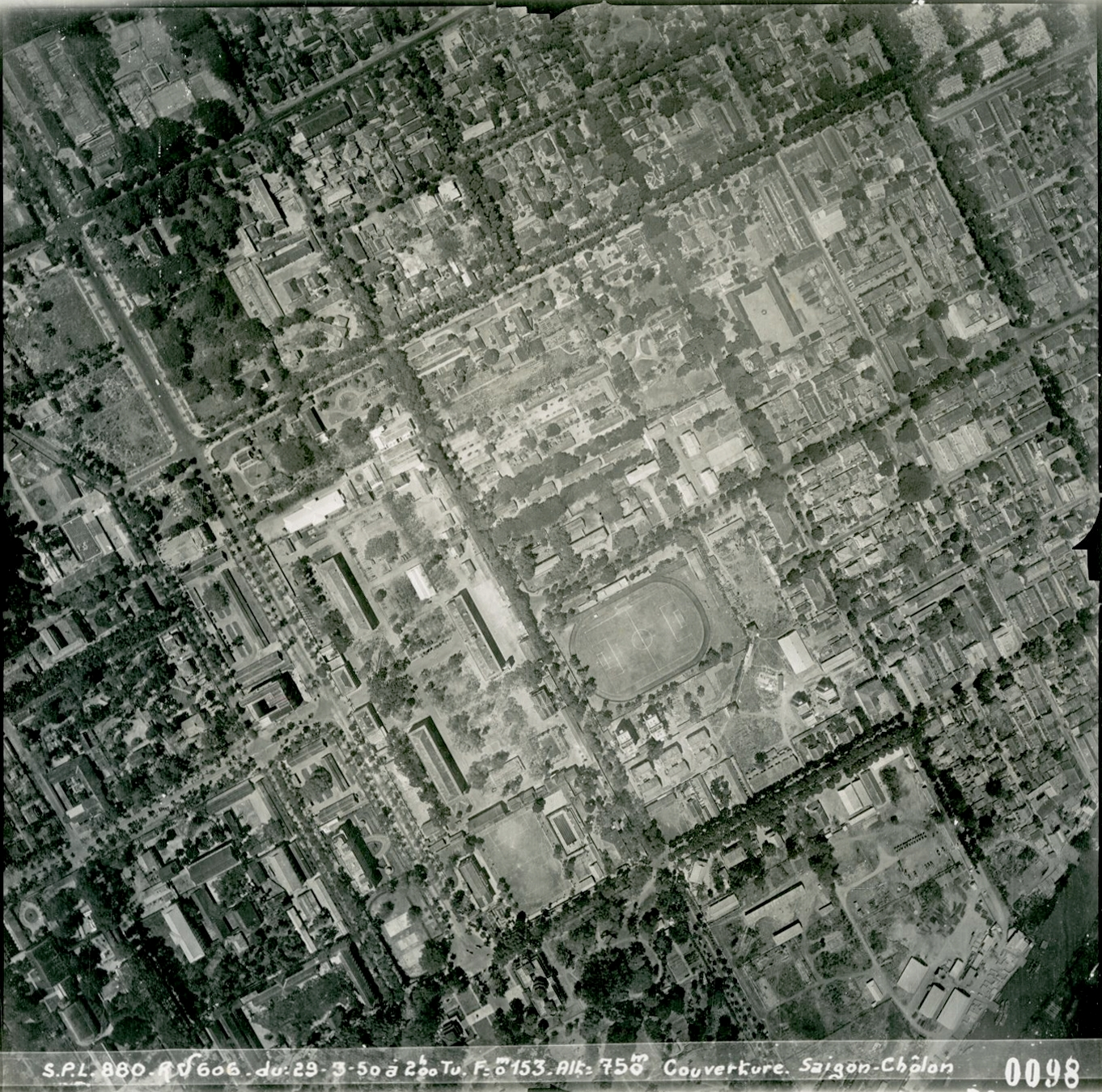Aerial View of Saigon 1950-1967