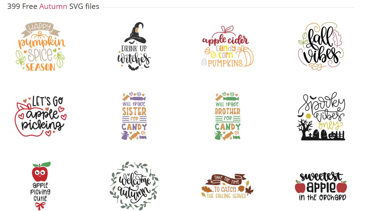 Download Free SVG Files For Fall