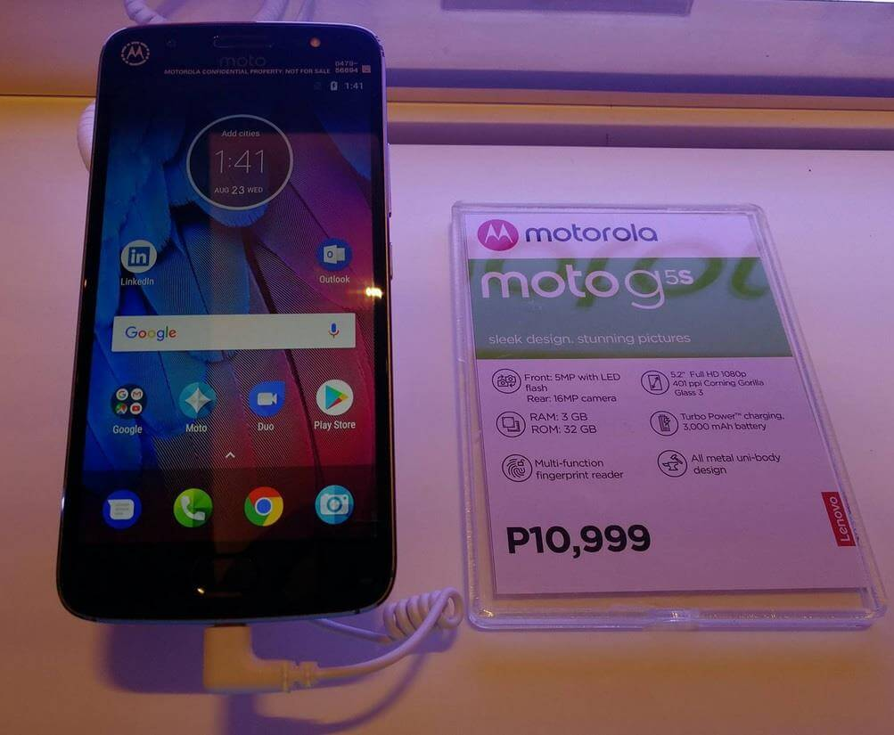 Motorola Moto G5s Lands in the Philippines for Php10,999; Octa Core Android Nougat with 16MP Main Camera