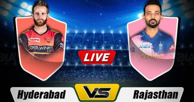 VIVO PL 2019 Match 8 SRH vs RR Live Score and Full Scorecard