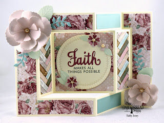 Our Daily Bread Designs Stamp/Die Duos: Walk By Faith, Custom Dies: Tri-Fold Card and Layers, Roses, Rose Leaves, Leaves and Branches, Bitty Blossoms, Paper Collection: Romantic Rose