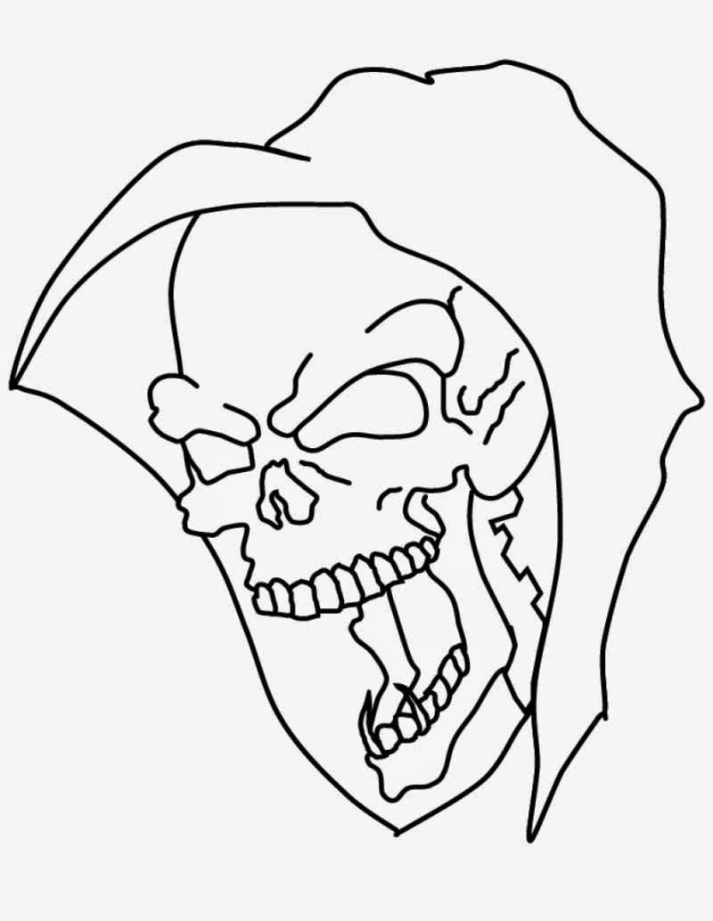 Unique cool coloring pages of skulls photos free for Coloring pages skull
