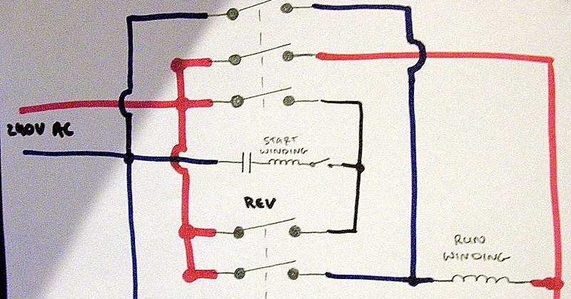 Single Phase Motor Reversing Wiring Diagram