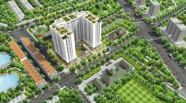 Phối cảnh tổng thể chung cư Athena Complex