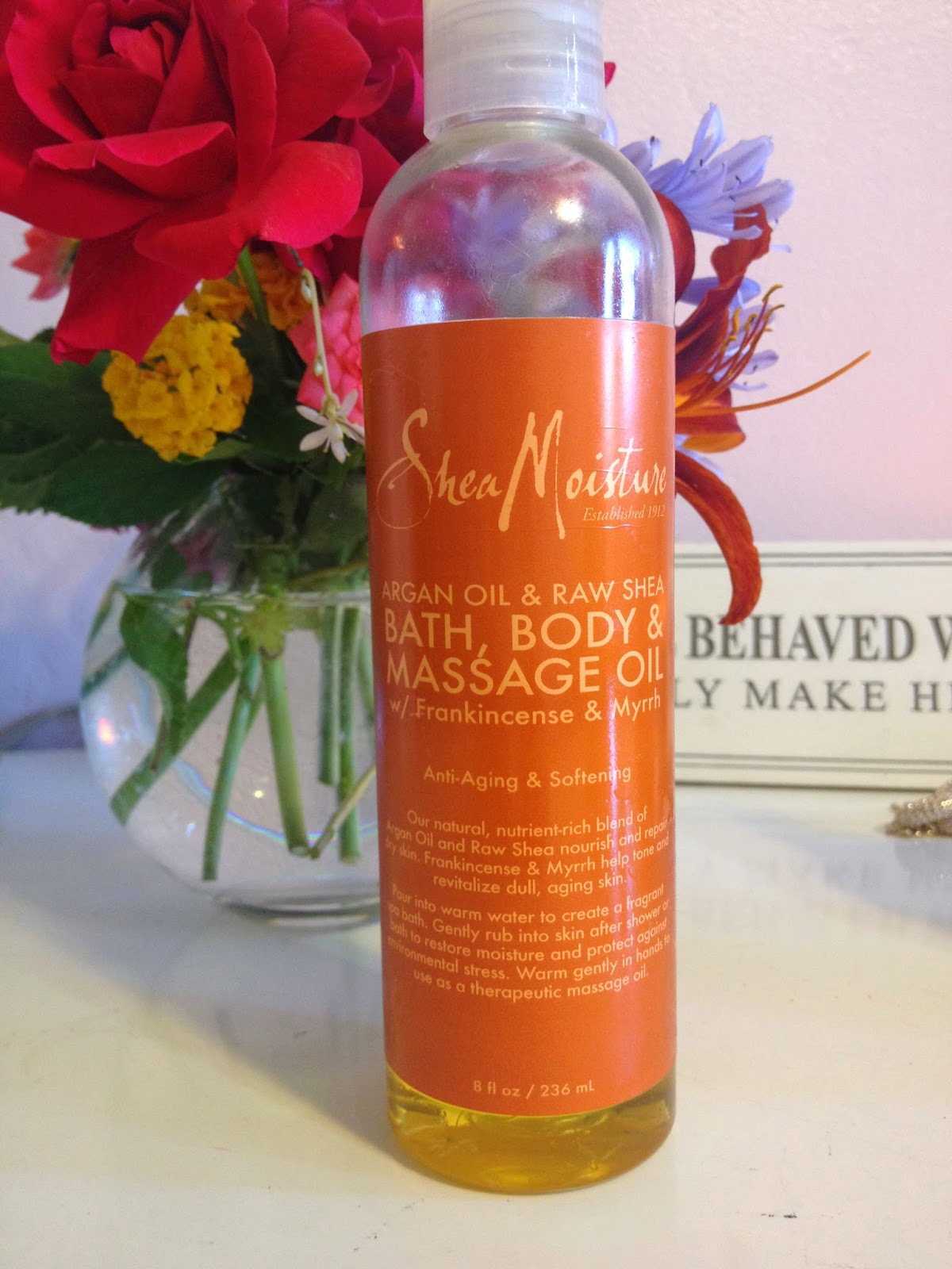 Argan Oil & Raw Shea Bath, Body & Massage Oil Frankincense & Myrrh Extract ($9.99)