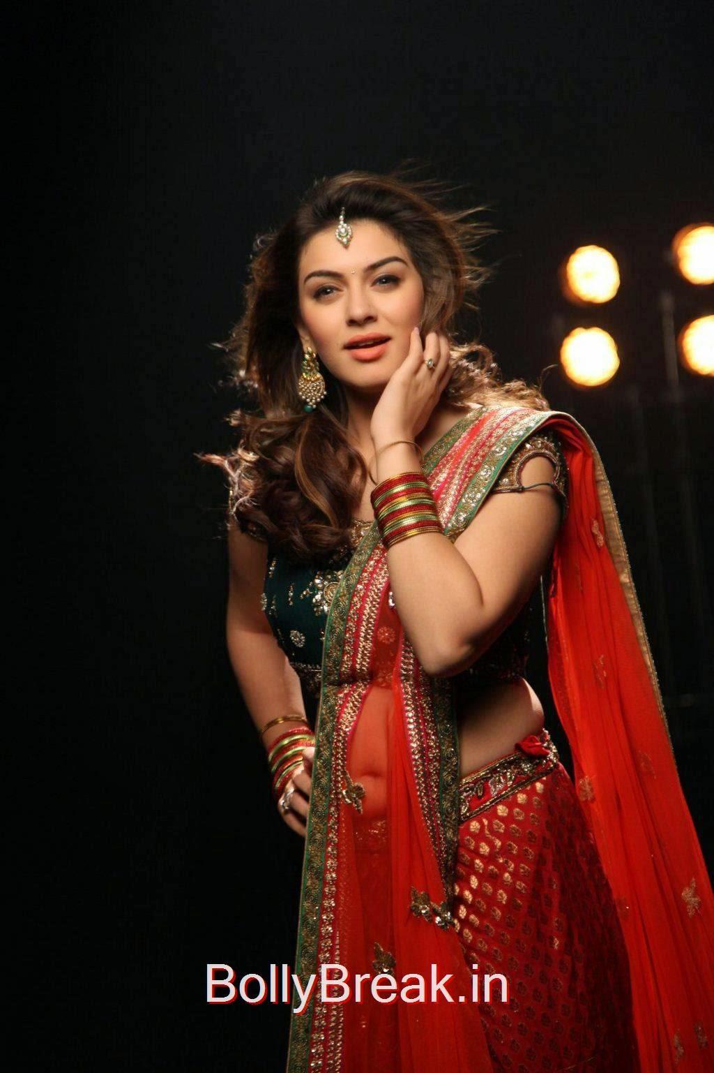 Telugu Actress Hansika, Hot HD Pics of Hansika Motwani in Saree From Romeo Juliet Movie