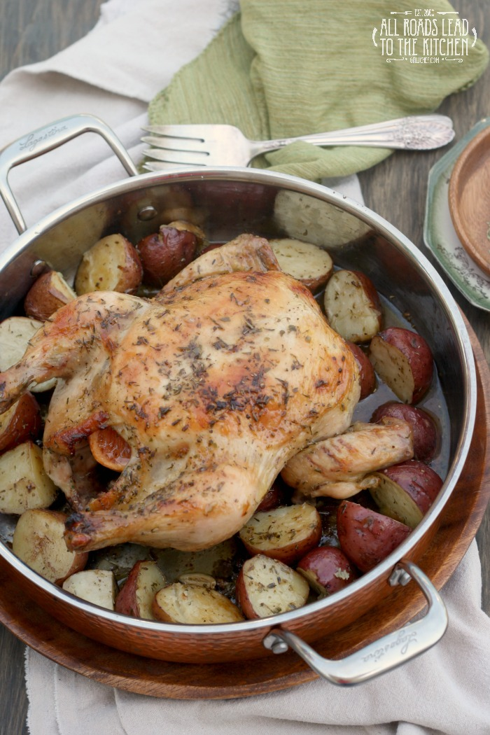 Herbes de Provence Roasted Chicken and Potatoes + an Amélie Inspired Menu