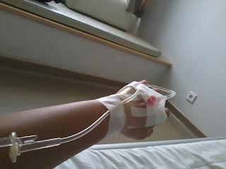 tangan di infus