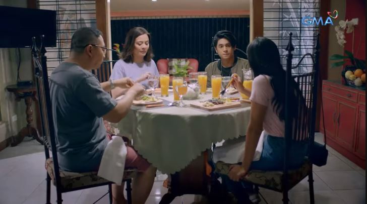 Family History 2019 family drama film with Michael V., Dawn Zulueta, Miguel Tanfelix and Bianca Umali  dining table scene