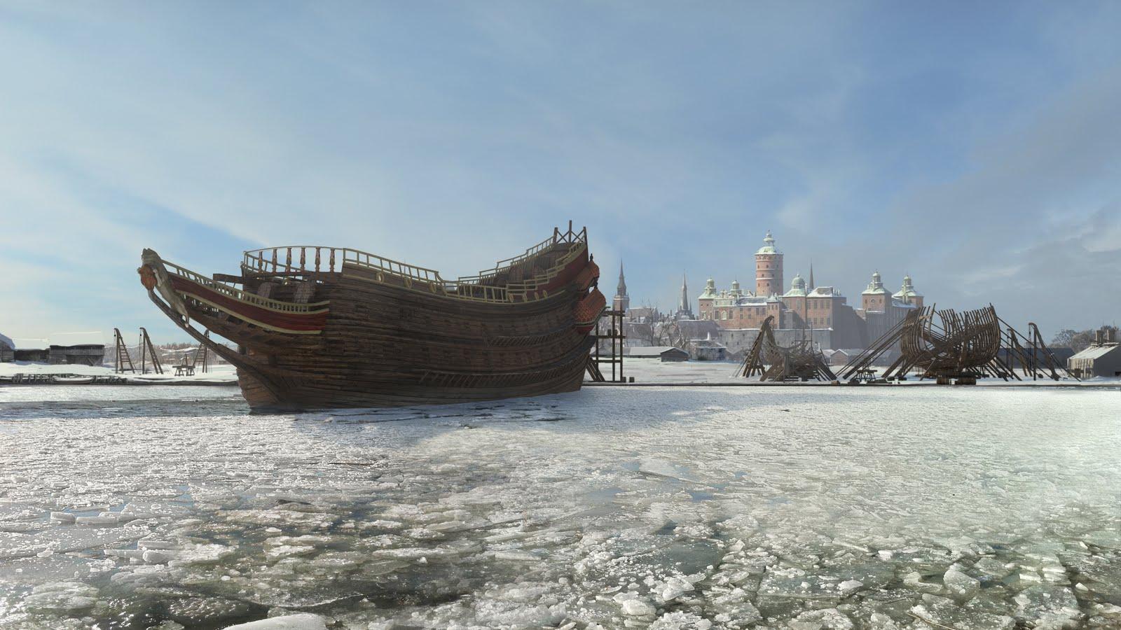 Martin Bergquist: Vasa ship documentury - mattepainting