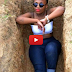 Lady Took Pose Picture In A Grave. | CLICK TO SEE