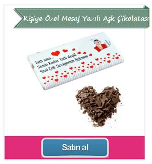 Kişiye Özel Mesaj Yazılı Aşk Çikolatası
