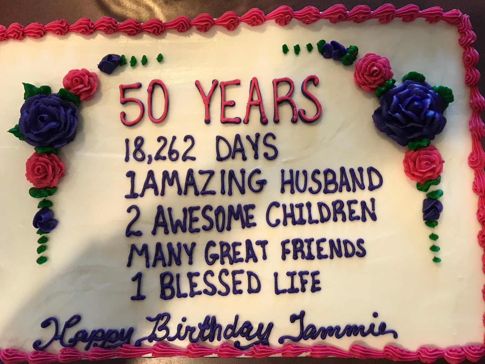 Stupendous The Mcclanahan 7 Wordless Wednesday 50Th Birthday Cake Funny Birthday Cards Online Overcheapnameinfo