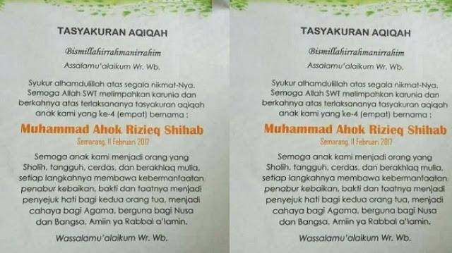 Bayi Baru Lahir di Semarang Bernama Muhammad Ahok Rizieq Shihab
