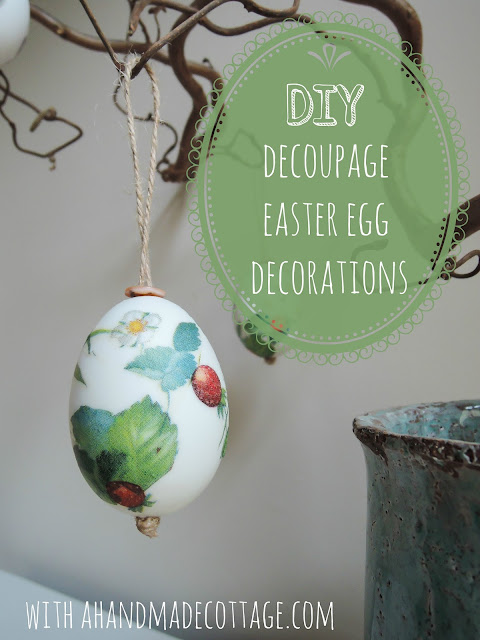 Decoupage easter egg tree decorations