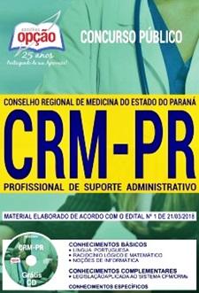 Apostila CRM-PR 2018 Profissional de Suporte Administrativo.