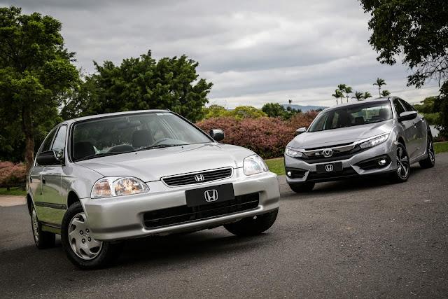 Honda Civic no Brasil: detalhes das 6º e 10ª gerações - vídeo