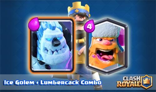Deck Ice Golem Lumberjack Arena 8 Clash Royale