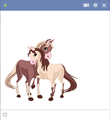 Horses emoticon for Facebook