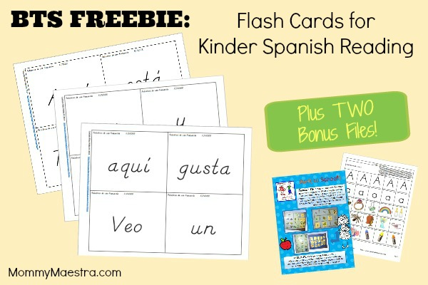 Mommy Maestra: BTS FREEBIE: Flash Cards for Kinder Spanish