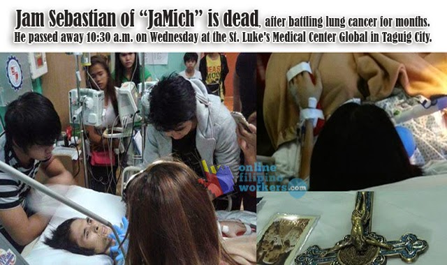 jam is dead After battling lung cancer for months, Jam Sebastian, half of the YouTube couple sensation JaMich, had passed away at 10:30 in the morning of March 3, 2015 as posted by his mother, Maricar Fernando Sebastian, on her Facebook page.