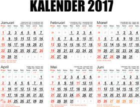 Jadwal Hari Libur Nasional Dan Cuti Bersama Tahun 2017